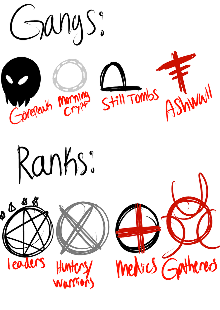 Gang and rank symbols by andlighet on deviantart gang and rank symbols by andlighet biocorpaavc