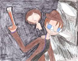 Linkara and Magic Gun Girl vs The Entity by WarriorNun