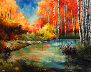 Moose's Autumn by AestromArtwork