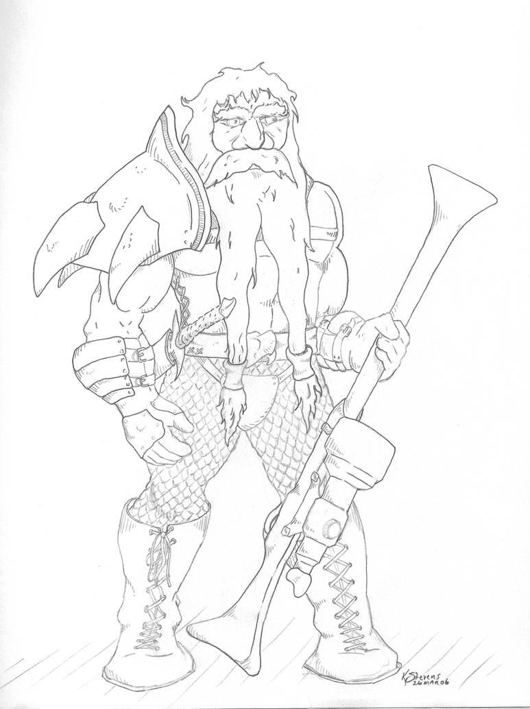 Drawing-Gunner by PsyborgFactory