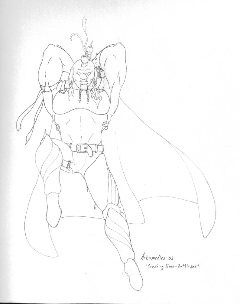 Drawing-Warrior by PsyborgFactory