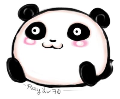 Chibi Panda by rayquaz...