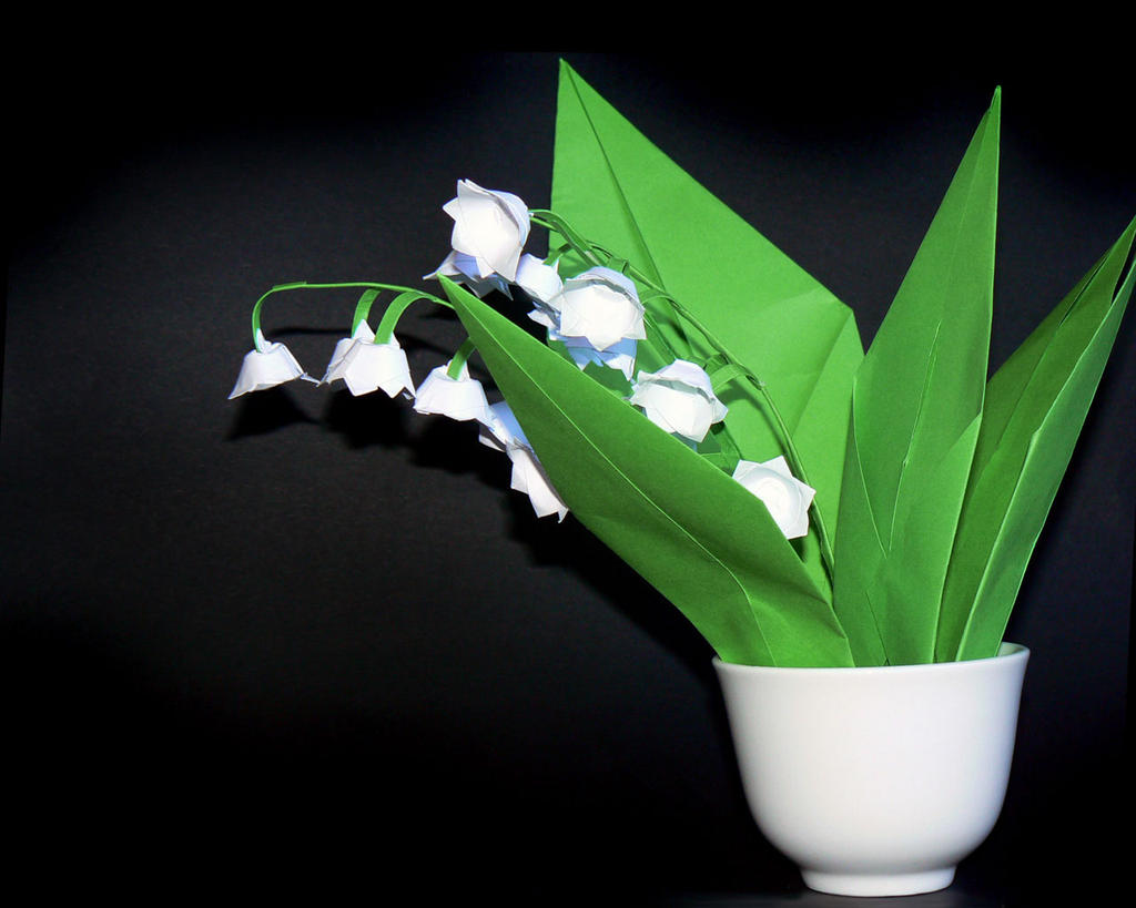 Lily of the valley favourites by miracleoceans on deviantart monstee 89 30 origami lily of the valley by stripe o izmirmasajfo Gallery