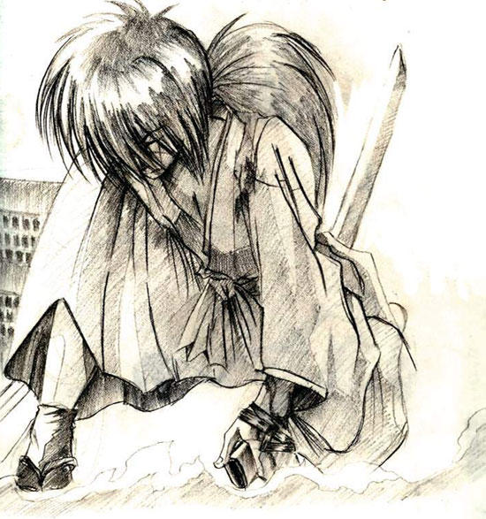 Himura Kenshin Sketch RK By ZeroSleep