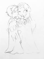 Travis and Tsubaki WIP by Moonchaiii