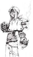 Steampunk boy