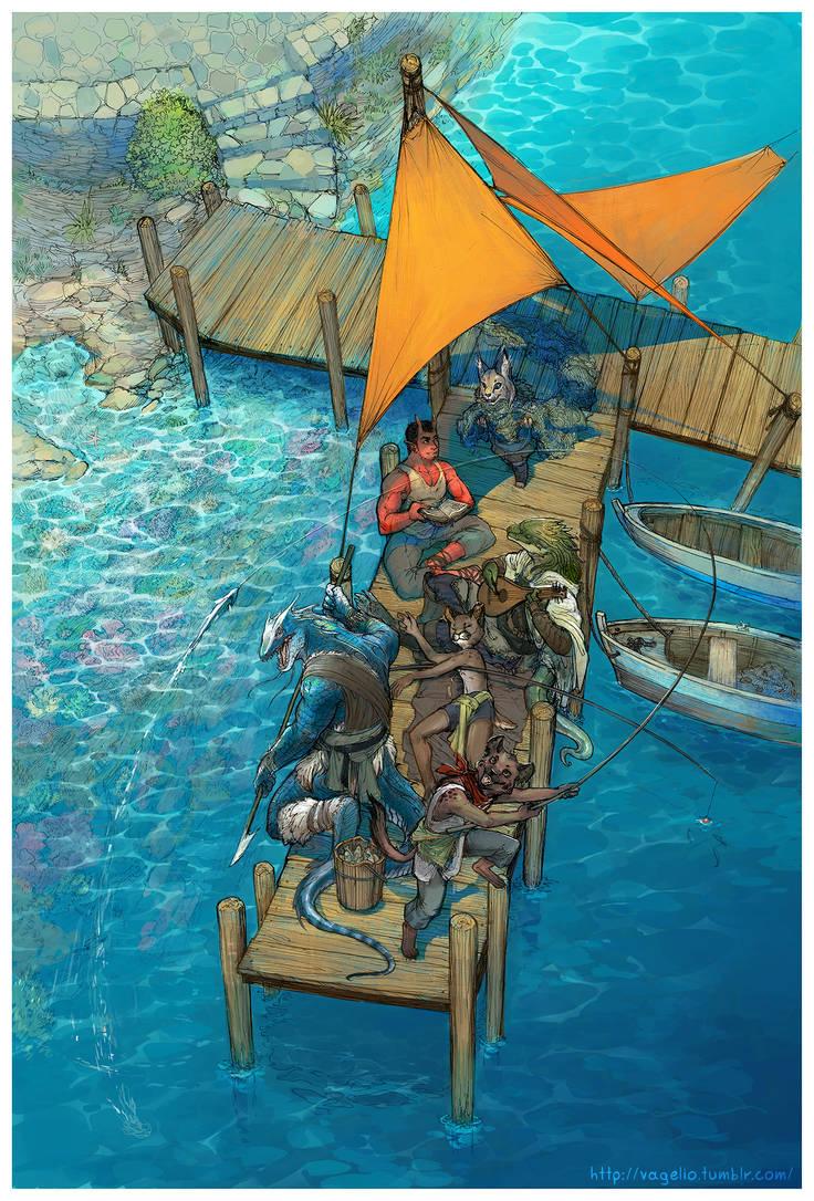 Fishing trip by Vagelio
