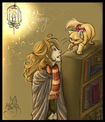Christmas at Hogwarts: Library by leelakin