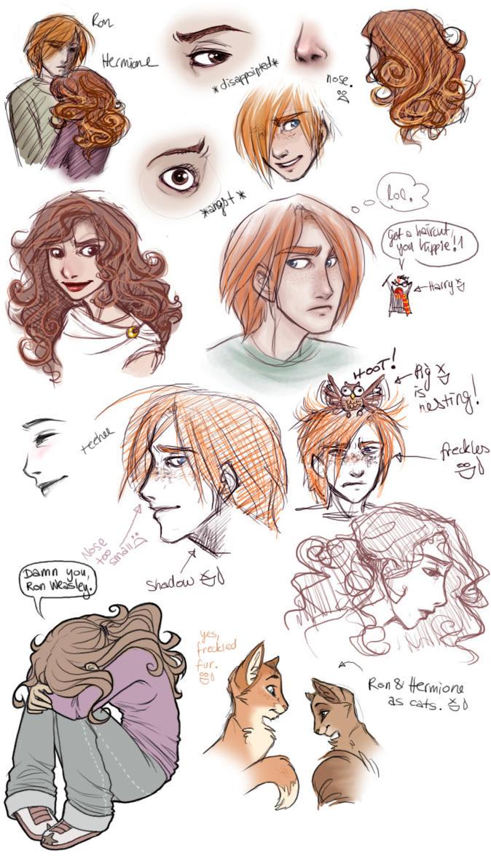 Ron + Hermione by leelakin