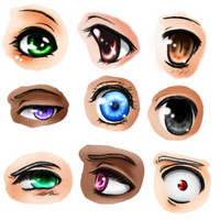 Eye Practice -- Anime One by Imaginary--Thoughts
