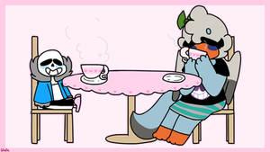 psychical tea time by SpriteCranbirdie
