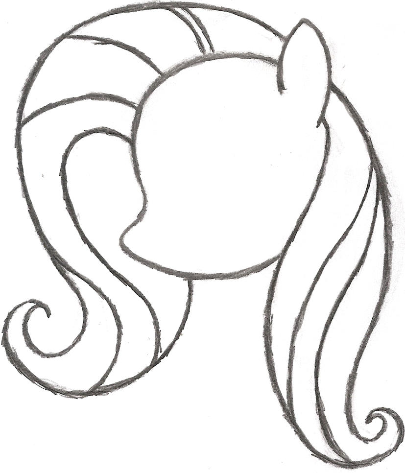 My Little Pony Coloring Pages Google Search : My little pony sketch fluttershy s head by ancientowl on