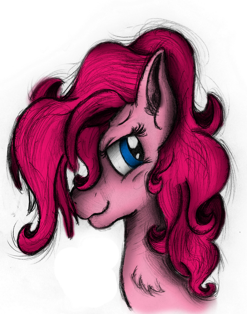 Pinkie Pie Portrait - Colored by AncientOwl
