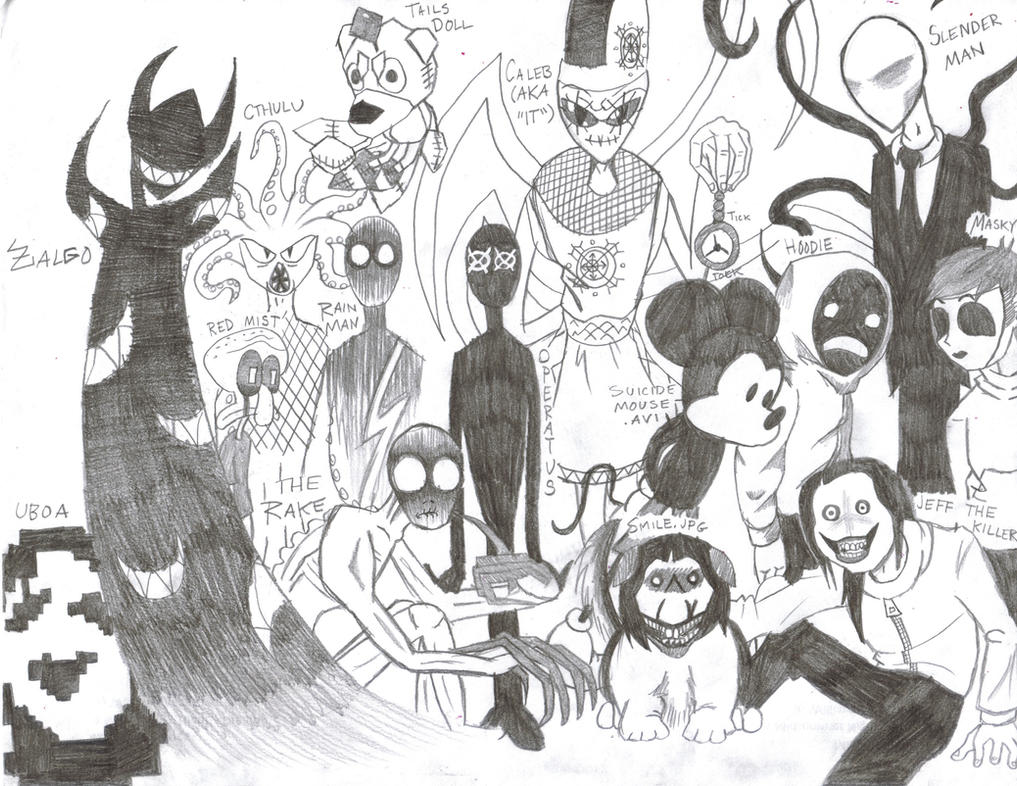 creepypasta family portrait by shadowfan36 on deviantart