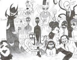 Creepypasta Family Portrait by shadowfan36
