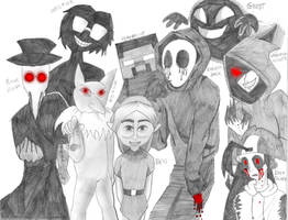 Creepypasta Family Portrait II by shadowfan36