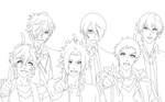 Brothers Conflict Lineart