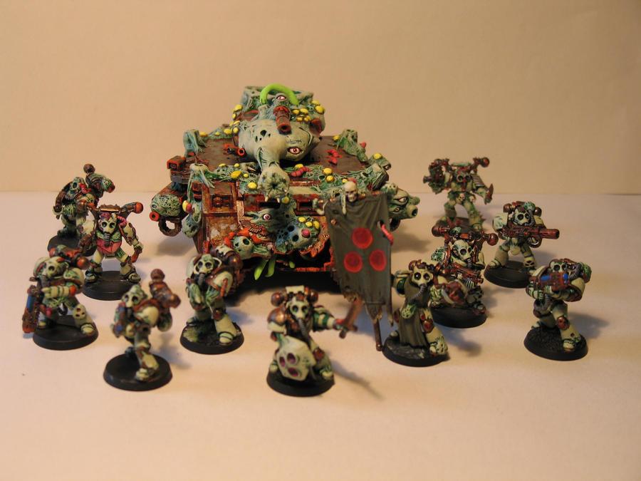Warhammer 40k Chaos army by DayWeAntArt