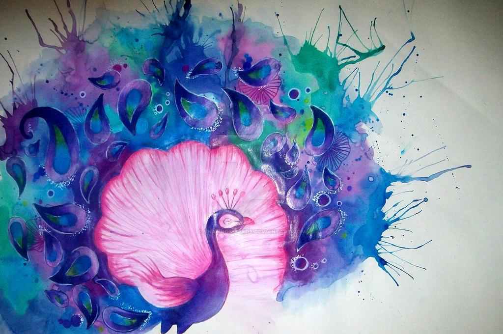 purple peacock by shannongordy