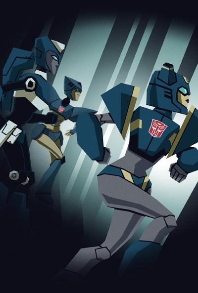 [Pro Art et Fan Art] Artistes à découvrir: Séries Animé Transformers, Films Transformers et non TF - Page 5 Poster__blue_by_sachiami-d4cn5yd