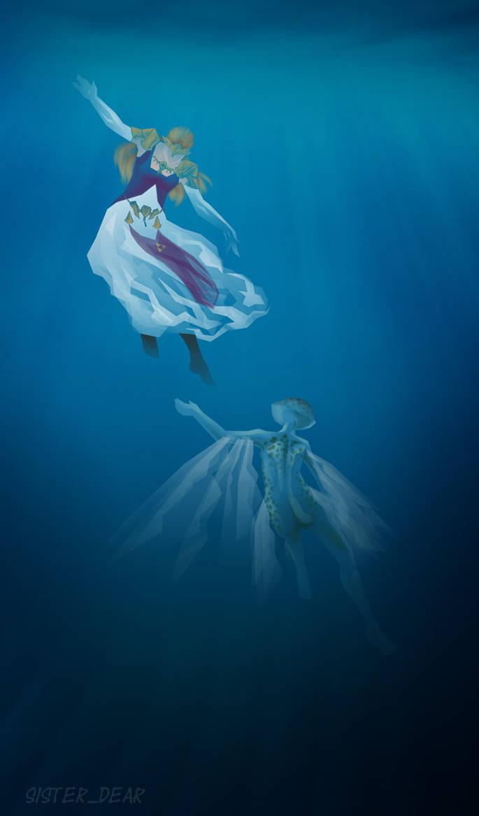 Zelda and Ruto by SachiAmi