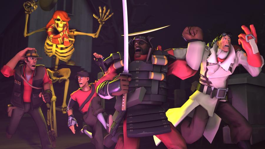 SFM - Spooky Skeleton Power Unleashed by Stormbadger