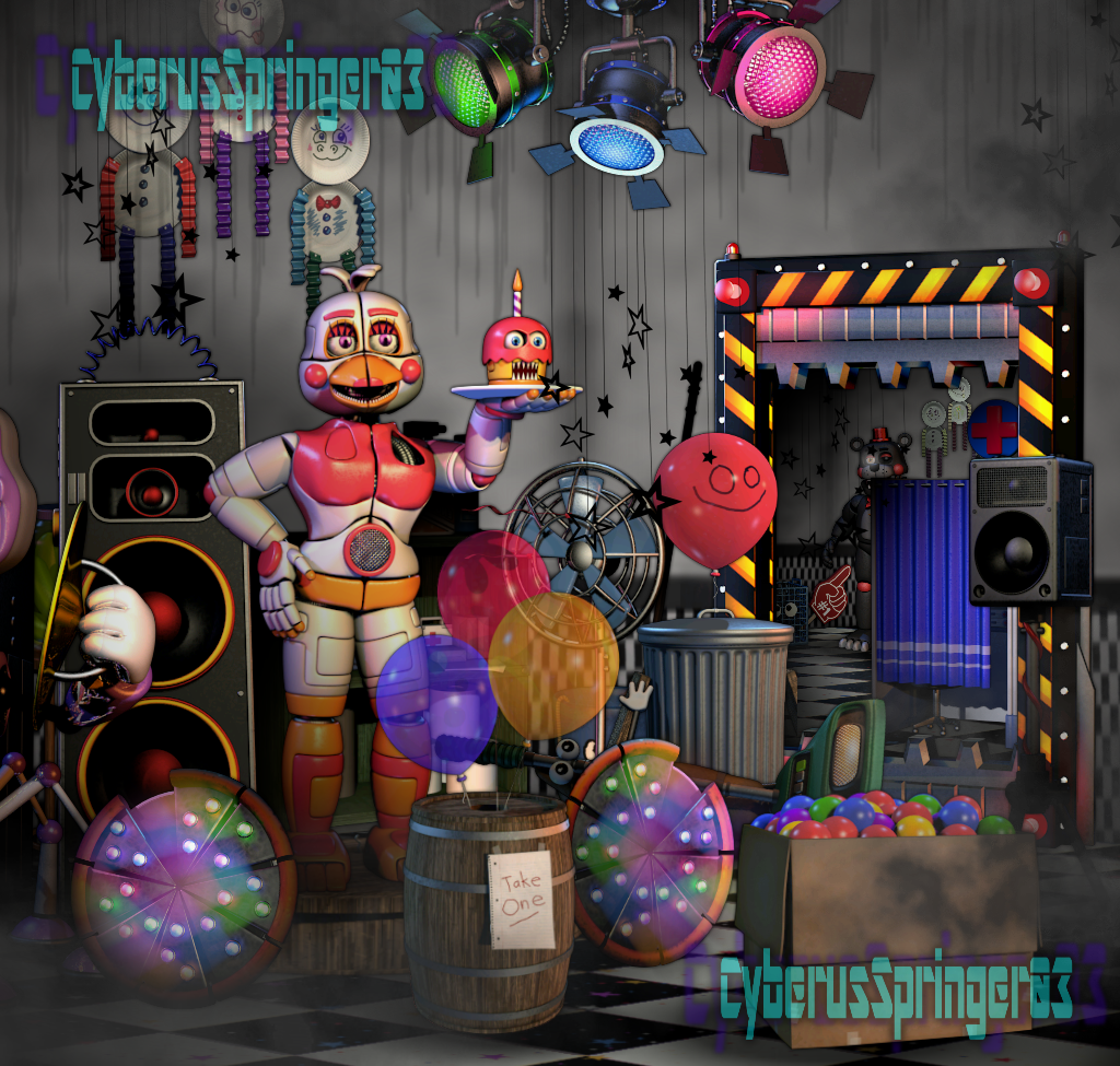 Parts And Service Fnaf 6 Edit By Cyberusspringer03 On