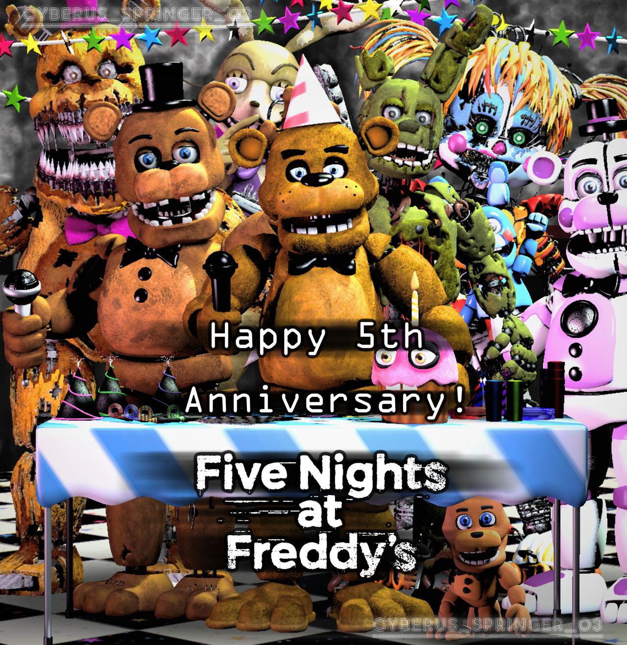 Happy 5th Anniversary FNaF! (SFM/Edit) By