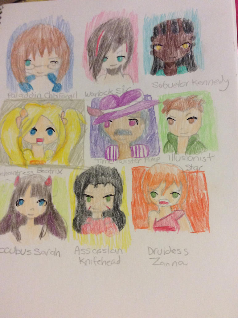 BGO Friends (and enemies) by Chibifangirl01
