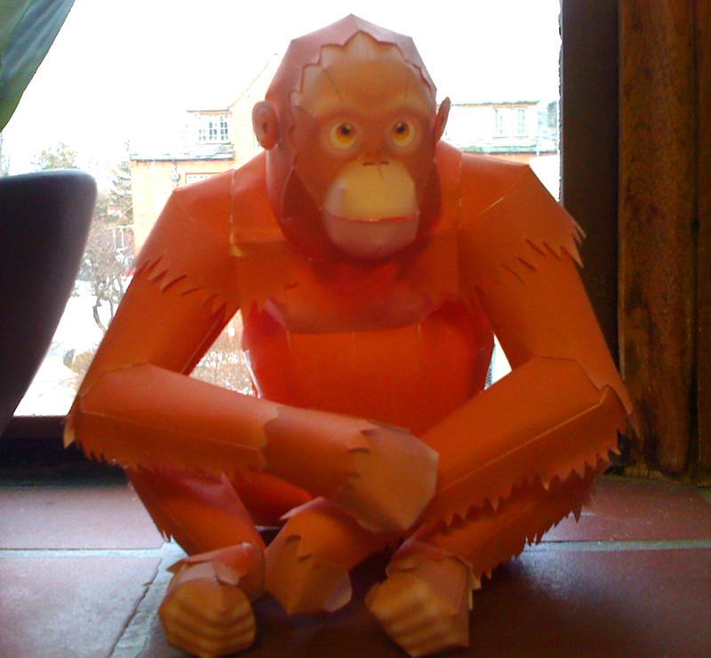 Orangutan Paper Model by Vylette7