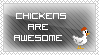 Stamp - The awesome chickens by Colonel-Chicken