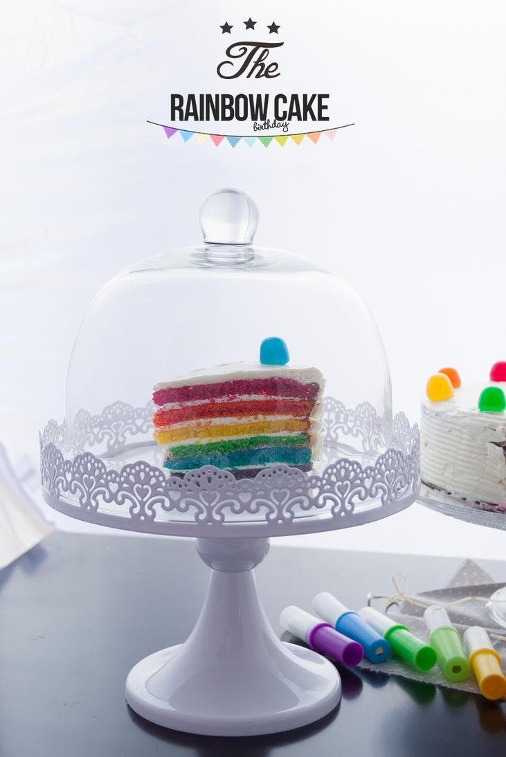 Rainbow (birthday) cake. by p0piete