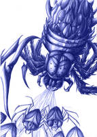 Fan'art ARK:SE : Broodmother Lysrix by Fura-Falevan