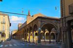 L'incrocio della Via Guerazzi e Via Maggiore