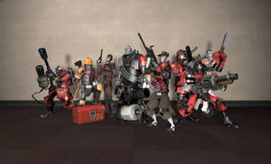 Robotic Mercenaries Group Shot - RED by PrincessBloodyMary
