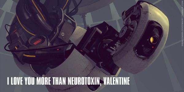 Valentine's Day Card - GLaDOS by PrincessBloodyMary