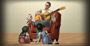 Father, Daughter, Music #1