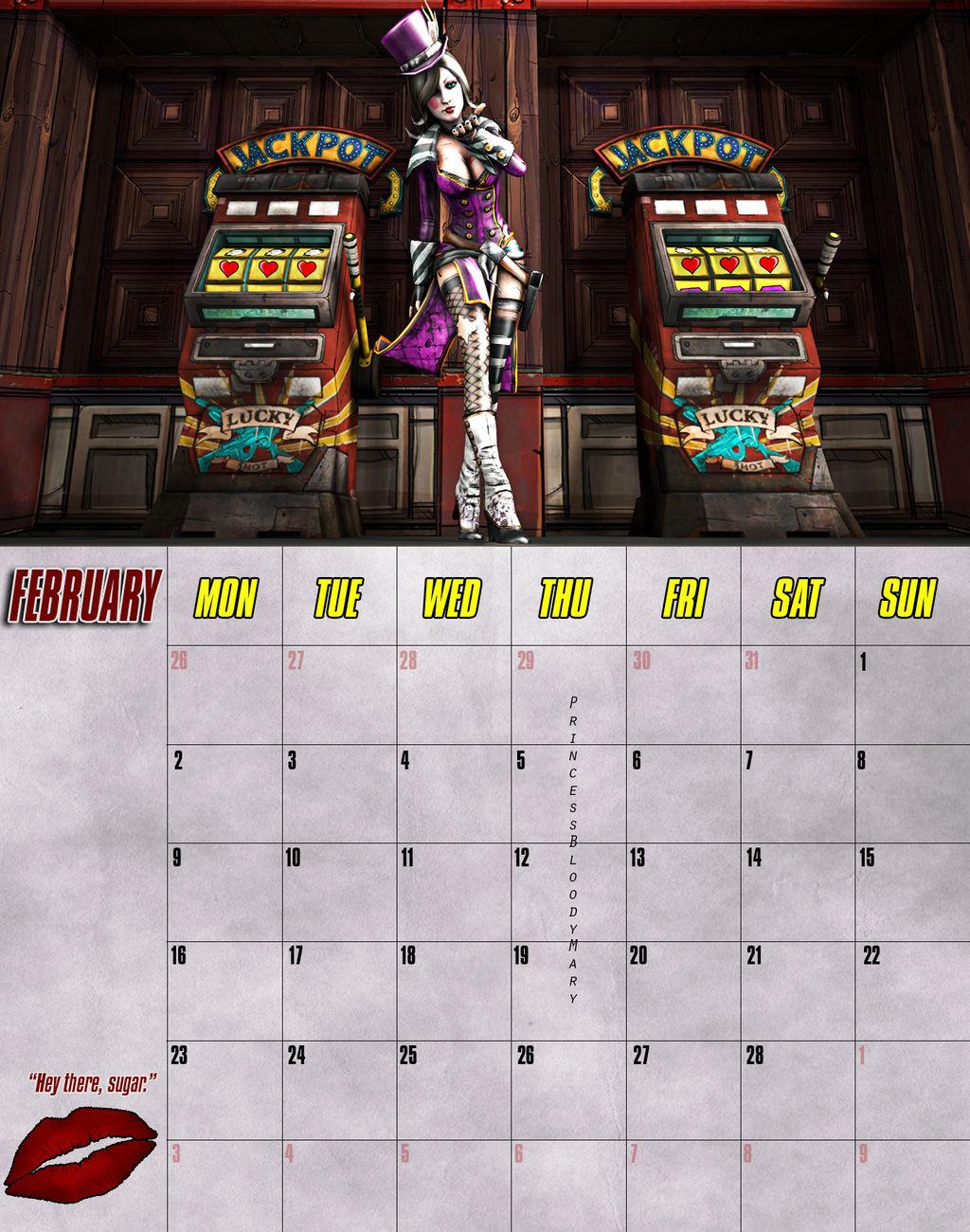 Borderlands Calendar example by PrincessBloodyMary on DeviantArt