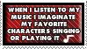 Music and charas stamp by o-Scythe-o
