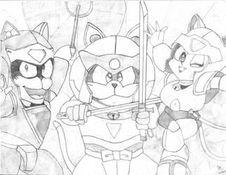 Samurai Pizza Cats by Yunalicia