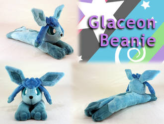Glaceon Beanie Plush (for Sale!) by Yunalicia