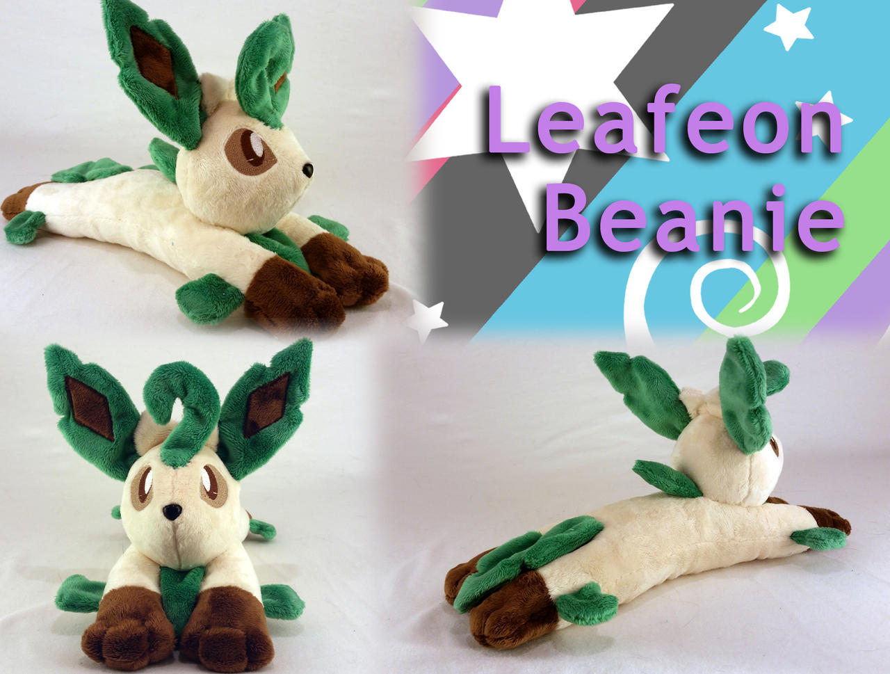 Leafeon Beanie Plush (for Sale!) by Yunalicia
