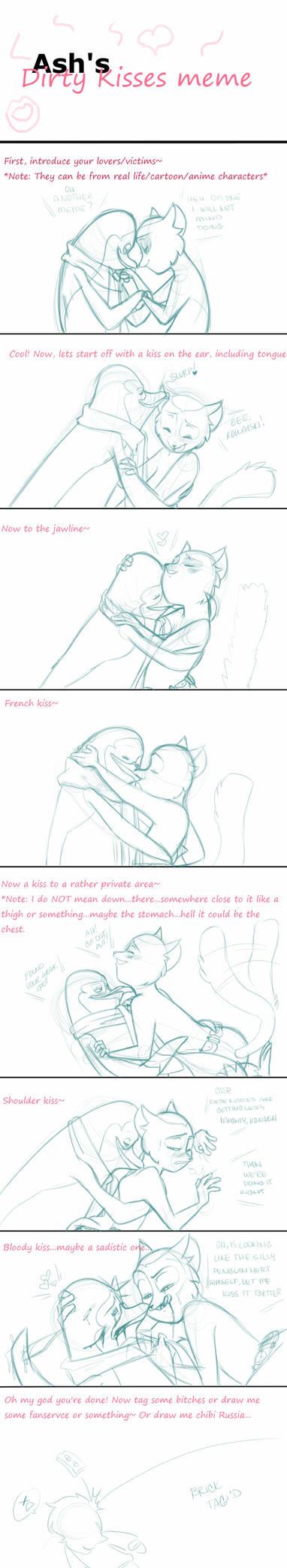 Naughty kisses meme -rough- by Tsutoshi on DeviantArt
