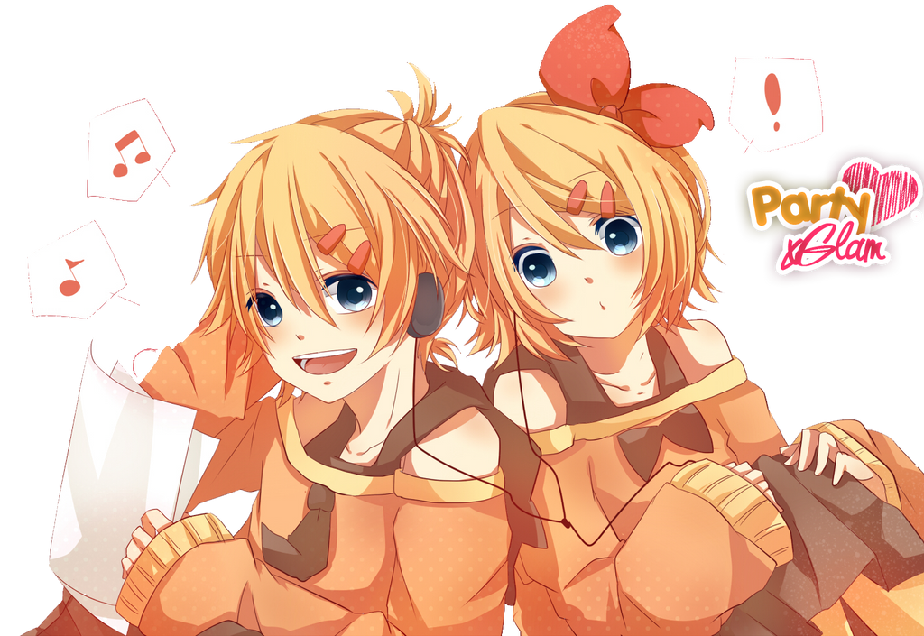 Renders Mangas Divers  Render_len_y_rin_kagamine___by_partyxglam-d67yqv3