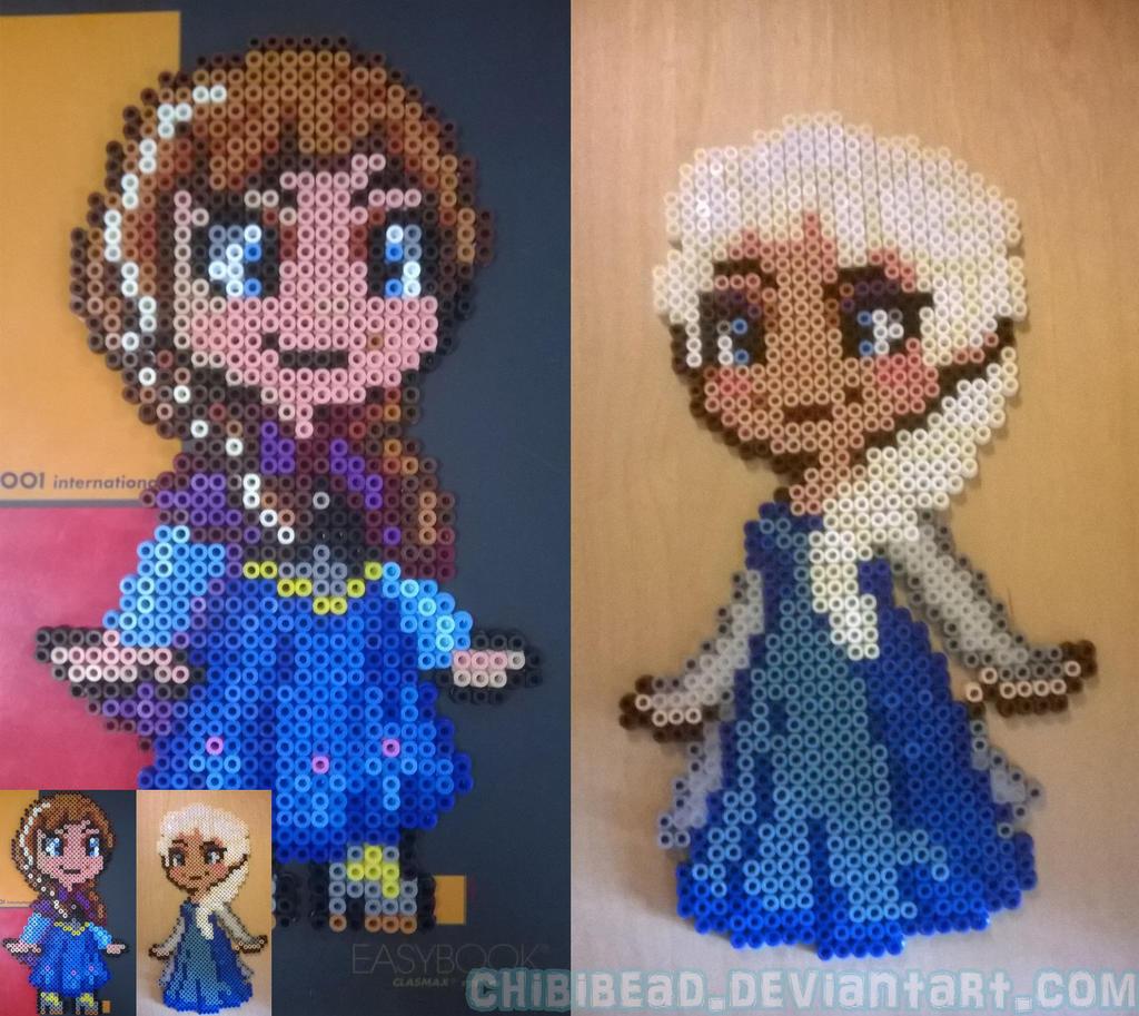 PerlerBeads - Anna and Elsa