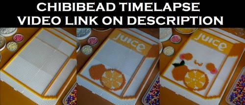 Perler Bead Timelapse - Orange Juice