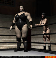 NATALYA BORZOV - 6ft 11in 320lbs with corner asst by theamazonclub