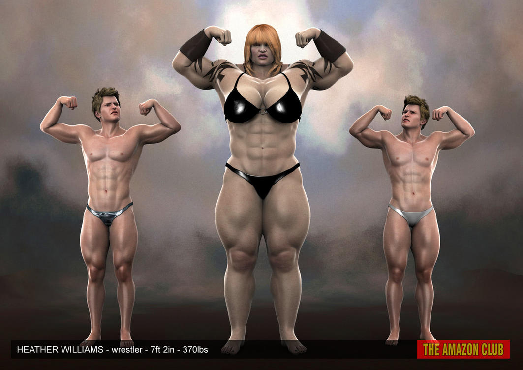 Amazon muscle women in 3d nude gallery
