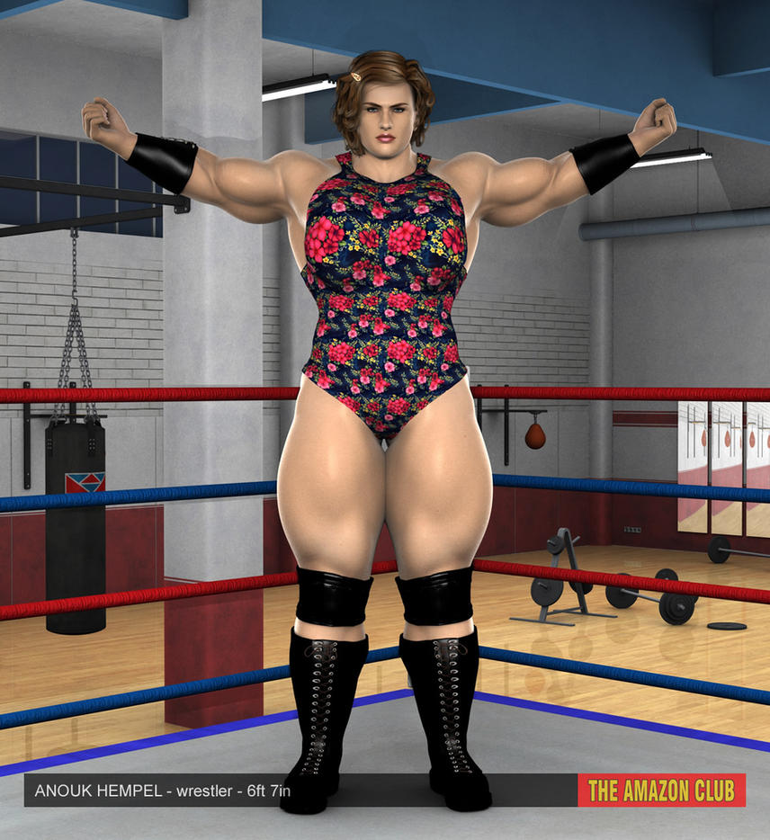Anouk Hempel - pro female wrestling - 6ft 7in - 01 by theamazonclub