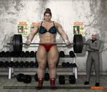 Daphne Krueger - female bodybuilder - 8ft 4in